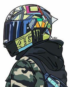 Graffiti Wallpaper, Graphic Wallpaper, Motorcycle Art, Bike Art, Animes Wallpapers, Cute Wallpapers, Valentino Rossi Logo, Camouflage Wallpaper, Gp Moto