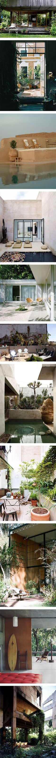 11 houses with amazing outdoor spaces via Nuji.com