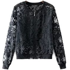 Chicnova Fashion Sheer Lace Embroidery Coat