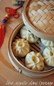 une aiguille dans l' potage: Baozi au porc et chou chinois (brioche farcie, cuite à la vapeur)