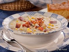 If you're a fan of rich and creamy soups that don't take a lot of work, you're in luck. Our Old-Fashioned Corn Chowder is so simple to make and tastes so good, your gang'll think you spent all day in the kitchen!   Read more at http://www.mrfood.com/Soup-Recipes/Old-Fashioned-Corn-Chowder#Jrz5UOTF0XFfu6W8.99