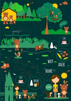 A New Friend-based on a story from The Dolch Project by Soniya B., via Behance