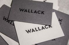 Brand identity and business card for Wallack designed by Moodley.
