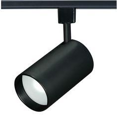 Nuvo Lighting TH201 Single Light R20 Straight Cylinder Track Head Black Indoor Lighting Track Lighting Heads