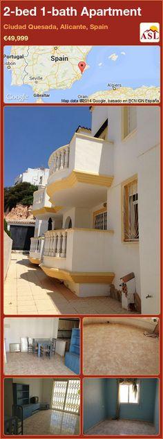 2-bed 1-bath Apartment in Ciudad Quesada, Alicante, Spain ►€49,999 #PropertyForSaleInSpain