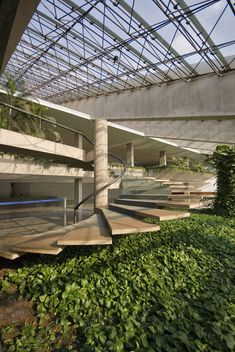 Cláudio Santoro National Theatre Brasilia Foyer Architect: Oscar Niemeyer 1968 Landscape architect: Roberto Burle Marx Sculpture-facade: Athos Bulcão