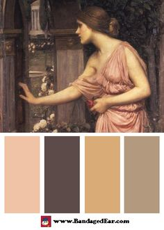 Magical Color Palette: Psyche Entering Cupid's Garden, c.1905, Art Print by John William Waterhouse