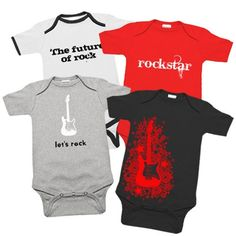 Rock and roll one piece gift set. Perfect for my new little rocker