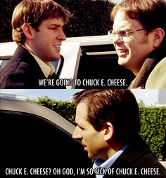 no michael we're going to the hospital. (this is my favorite episode to date. michael burns his foot and dwight gets a concussion)