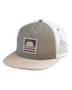 Sundance Beach Leather Logo Snapback Trucker Hat Green a898835f91dd