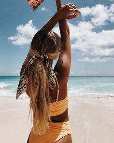 @hannaschonberg // Wearing - Paros Bandeau Bikini Top (Exclusive) - Yellow