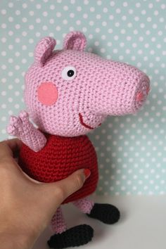 Peppa Wutz Gehäkelt Crochet Pinterest Häkeln Stricken Und