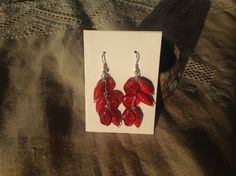Buttons and paper beads earrings.