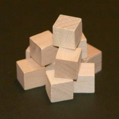 100 - Square #Block - 3/8 x 3/8 inch #unfinished wood #(WW-SQ0375),  View more on the LINK: http://www.zeppy.io/product/gb/3/80054794/