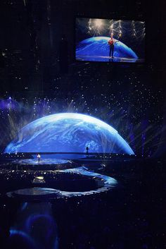 The arena in Düsseldorf for the 2011 Eurovision Song Contest.  I loooved that amazing earth*_* :)