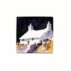 Hand Painted Card - Welsh cottage a7 by WendyPowellJonesArt on Etsy
