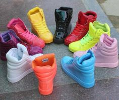Candy-Colors-Girls-Fashion-High-Top-Lace-Up-Flats-Sneakers-Trainers-Womens-Shoes