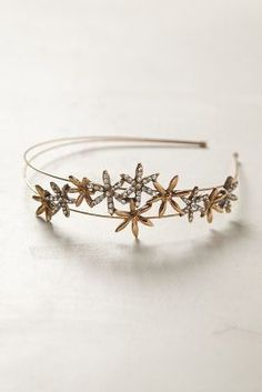 starry floral/sparkle headband. love this for winter + holidays!
