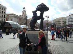 Did Papa Smurf just photobomb - er...photosmurf - this couple's Segway photo in Madrid, Spain?