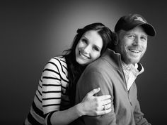 """Ron & Bryce Dallas Howard ~ The man formerly known as Opie has 3 daughters & a son w/ his wife of 40 yrs, Cheryl Alley. The eldest, Bryce Dallas Howard, stars in this summer's """"Jurassic World."""
