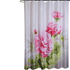 S-ZONE Shower Curtain,with Hooks,Mildew Proof Polyester Fabric,72x72 Inch,Printed Peony White and Pink Pattern S-ZONE http://www.amazon.com/dp/B00SST9UA6/ref=cm_sw_r_pi_dp_ZOVTvb090WCT2