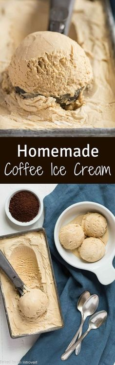 Homemade Coffee Ice Cream made just like old fashioned ice cream! This recipe will satisfy your sweet coffee cravings any time you have them! via /introvertbaker/