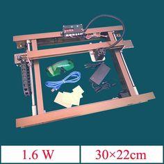 1.6W A4 Desktop All Metal DIY Violet Laser  Engraver  Engraving Machine Picture CNC Printer