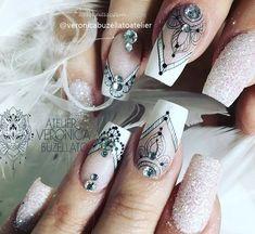 Unhas arabesco: Lindas nail art com arabescos