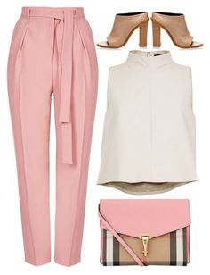 """""""street style"""" by ecem1 ❤ liked on Polyvore featuring Topshop, TIBI, Burberry, women's clothing, women, female, woman, misses and juniors"""