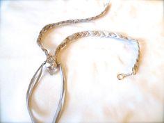 Rumeltha  Natural RAW Clear Quartz Leather Necklace by ulantia, $50.79 #ulantia #leather #white #deer #jewelry #crystal #quartz #boho #fringe
