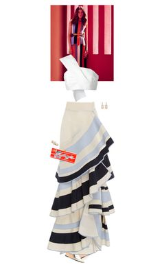 """""""Untitled #2691"""" by wizmurphy ❤ liked on Polyvore featuring Alexander Wang, Delpozo, Johanna Ortiz, Edie Parker, Sanjay Kasliwal, Roberto Coin and ruffles"""