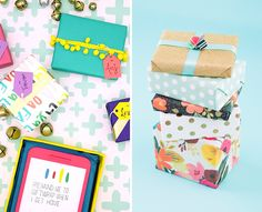 5 Creative Gift Wrap Ideas You Can Do With Stuff Around Your House via Brit + Co