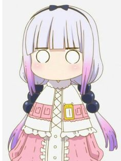 Kawaii Anime Girl, Anime Art Girl, Anime Chibi, Manga Anime, Anime Faces Expressions, Kanna Kamui, Kobayashi San Chi No Maid Dragon, Miss Kobayashi's Dragon Maid, Anime Stickers