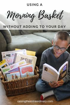 USING A MORNING BASKET WITHOUT ADDING TO OUR DAY • homeschool tips