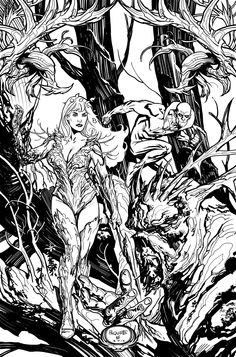 Swamp Thing issue 13 by Yanick Paquette