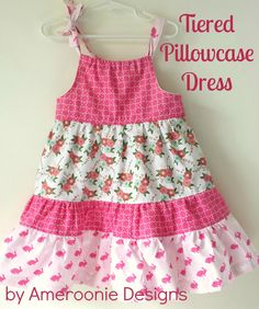 Ameroonie Designs: Wonderland Tiered Pillowcase Dress