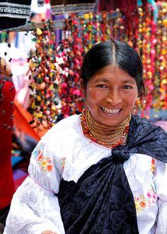 portrait of a lady, otavalo market, ecuador