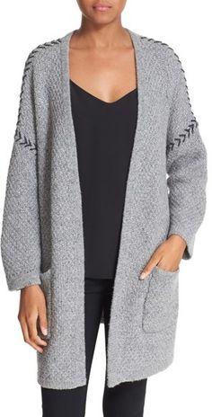 Women's Autumn Cashmere Oversized Cashmere Open Cardigan -- 40% off