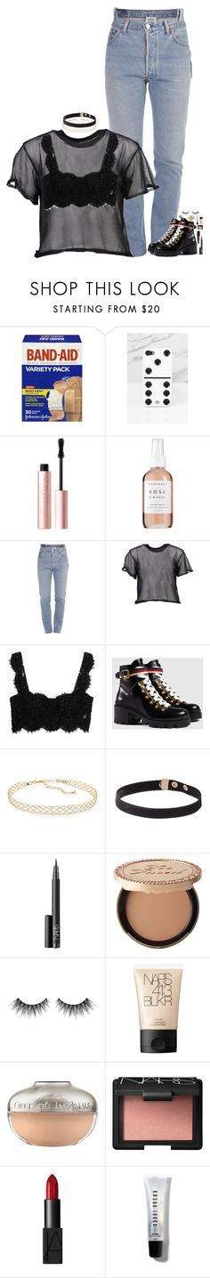 """if I keep my eyes closed he looks just like you"" by kthayer01 ❤ liked on Polyvore featuring WALL, Dinosaurs, Valfré, Too Faced Cosmetics, Herbivore, Vetements, MM6 Maison Margiela, Dolce&Gabbana, Gucci and Panacea"