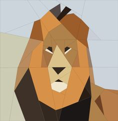 Lion 1 African Safari Theme quiltartdesigns.blogspot.com