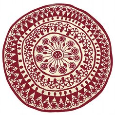 Rangoli rug (traditional Hindu design)