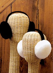 SHEEPSKIN EAR MUFFS, from SHEPHERD'S FLOCK TOWNSHEND, VERMONT, USA Some really insane ones at the bottom of the page.