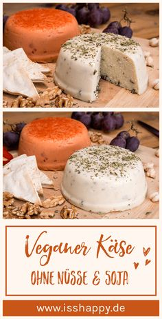 Vegan cheese: simple recipe with just a few simple ingredients .- Vegan cheese: simple recipe with few ingredients to make yourself - Veggie Recipes, Vegetarian Recipes, Easy Recipes, Recipes With Few Ingredients, Cheese Ingredients, Desserts Sains, Cheese Cultures, Gluten Intolerance, Vegetarian Breakfast