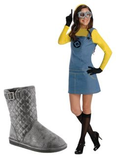 """Leigh Anne is a Minion for Halloween"" by bearpawstyle on Polyvore featuring Rubie's Costume Co."