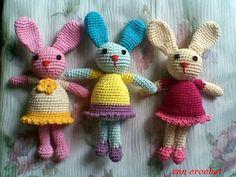 Free Bunny Doll Crochet Pattern http://zancrochet.blogspot.co.uk/2014/06/amigurumi-bunny-si-kelinci_19.html?m=1