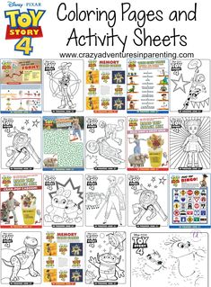 Toy Story 4 Coloring Pages and Activity Sheets for kids are here! Just in time for the movie release in theaters! Woody, Buzz, Jessie, Bo Peep, and Rex are back!Toy Story 4 Coloring Pages