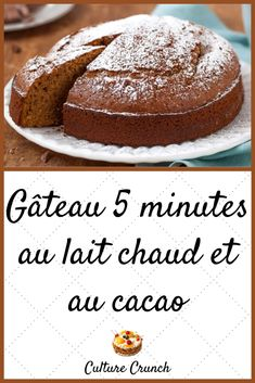 Cake 5 minutes in the milk and the cocoa easy recipe. Recipes With Whipping Cream, Cream Recipes, Baby Food Recipes, Cake Recipes, Arabic Dessert, Ice Cream Candy, Ww Desserts, Crockpot, Cake Cookies