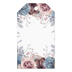 Shop Dusty Blue and Mauve Floral Wedding Gift Tags created by lovelywow. Personalize it with photos & text or purchase as is!