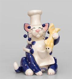 "Фигурка ""Кот Шеф"" CMS-31/43 (Pavone)   Бренд: Pavone (Италия);      Страна производства: Китай;   Материал: керамика;   Длина: 10 см;   Ширина: 8 см;   Высота: 13 см;   Вес: 0,2 кг;      #кошка"