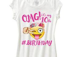 Omg de EMOJI caca su mi camisa de cumpleaños Cumpleaños